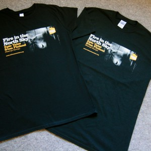 Fire in the North Sky T-shirts