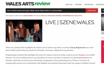 Wales Arts Review Szene:Wales