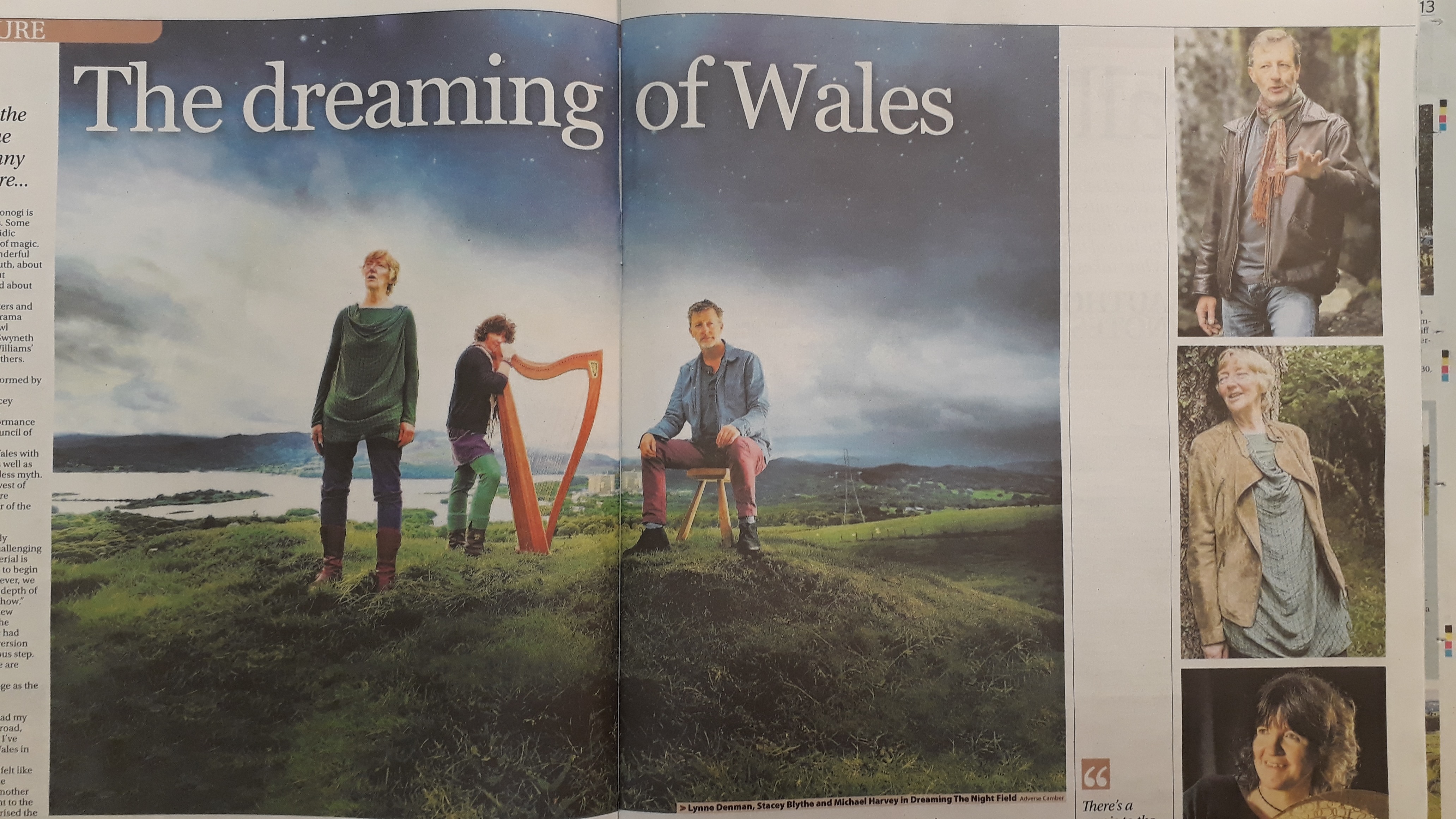 Double page spread in the Western Mail