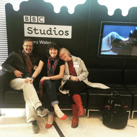 The Dreaming the Night Field artists at the BBC