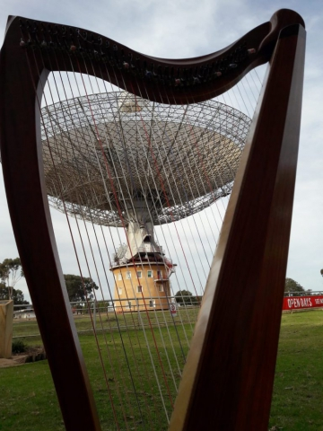 Harp adventures at the CSIRO Parkes Radio Telescope