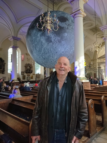 Aidan Shingler at Museum of the Moon, Derby Cathedral