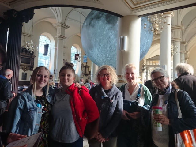 Moon Stories project team at Derby Cathedral