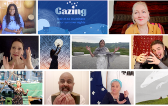 a montage of images from the Gazing series